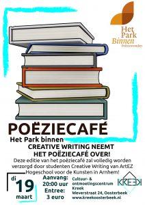 Het Park Vertelt Binnen: CREATIVE WRITING NEEMT HET POËZIECAFÉ OVER! @ Oosterbeek | Gelderland | Nederland