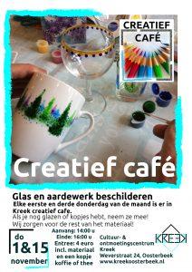 Creatief café: Glas en aardewerk beschilderen @ Kreek | Oosterbeek | Gelderland | Nederland