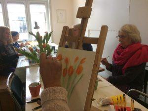 Creatief café: Stilleven van bloemen