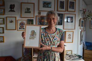"""Expositie """"Tronies"""" van Beatrijs van den Bos en Marianne Horsman-Wagener"""
