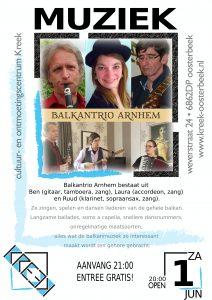 Gratis optreden van het Balkantrio uit Arnhem