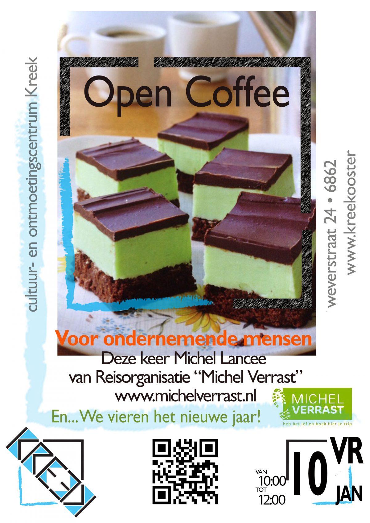 Uitnodiging Open Coffee 10 januari 2020 start 10 uur