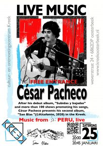 Gratis concert: Peruaanse muziek van César Pacheco
